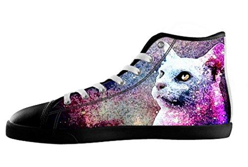Pop Création Femmes Espace Chat Haut Haut Toile Chaussures Spacecat Toile Shoes01