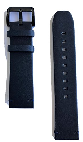 22mm Movado BOLD Navy Blue Leather Watch Band Strap [22mm Band Width]