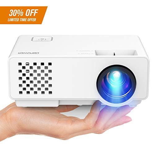 Projector, 2018 Upgraded DBPOWER RD-810X Mini Video Projector, Multimedia Home Theater Video Projector Supporting 1080P, HDMI, USB, VGA, AV for Home Cinema, TVs, Laptops, Games, Smartphones by DBPOWER