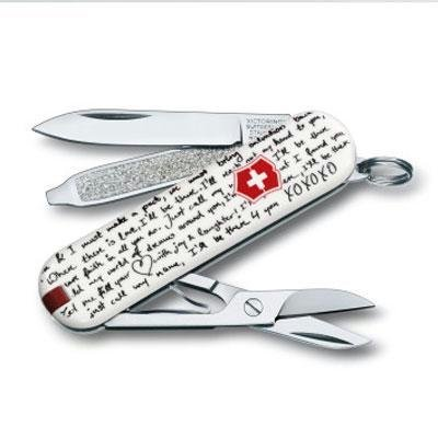 Victorinox Swiss Army Classic Knife, 58mm, Love Song, Outdoor Stuffs