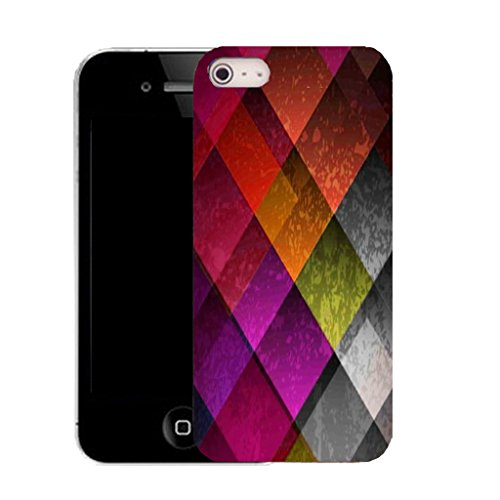 Mobile Case Mate IPhone 5S clip on Silicone Coque couverture case cover Pare-chocs + STYLET - motley pattern (SILICON)