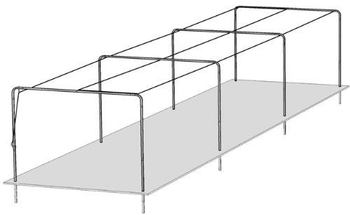 Trigon Sports 3 Section Batting Tunnel Frame (Batting Tunnel Frame)