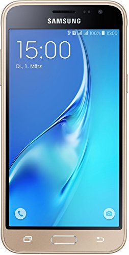 Samsung Galaxy J3 (2016) DUOS Smartphone (5,0 Zoll (12,63 cm Touch-Display, 8 GB Speicher, Android 5.1) gold