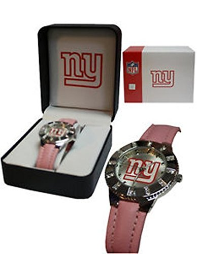 Avon New York Giants NFL Ladies Pink Watch in Giftbox