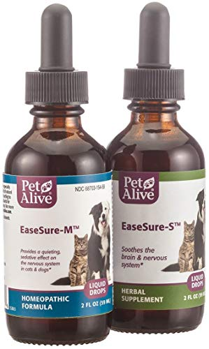 (PetAlive Complete EaseSure ComboPack - Natural Homeopathic Formula EaseSure-M and All Natural Herbal Supplement EaseSure-S - 1 Each)