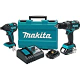Makita XT248R-R 18V 2.0 Ah Cordless Lithium-Ion Brushless Hammer Driver Drill and Impact Driver Combo Kit (Certified Refurbished)