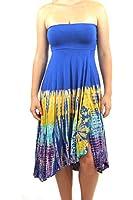 Open front versatile maxi tie dye dress