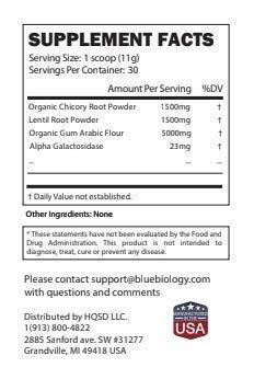 BlueBiology Prebiotics - Organic Fiber Digestive & Immune Supplement
