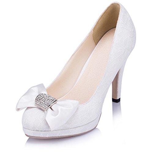 Kevin Fashion - Zapatos de boda fashion mujer , color Azul, talla 41