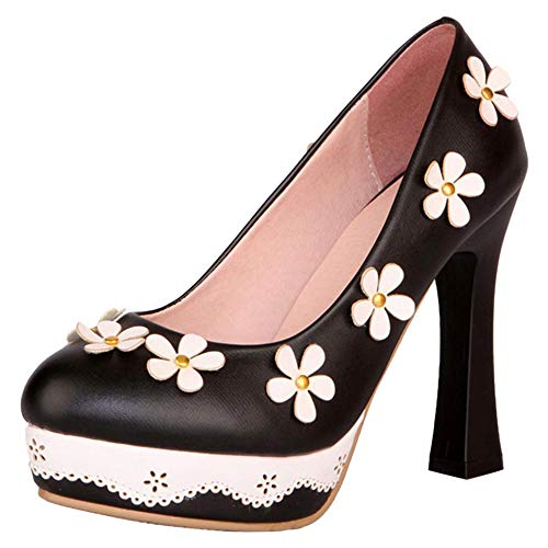 Slip RAZAMAZA Alto 6 Shoes Nero Pumps Moda Tacco Donna On BSqrY1B