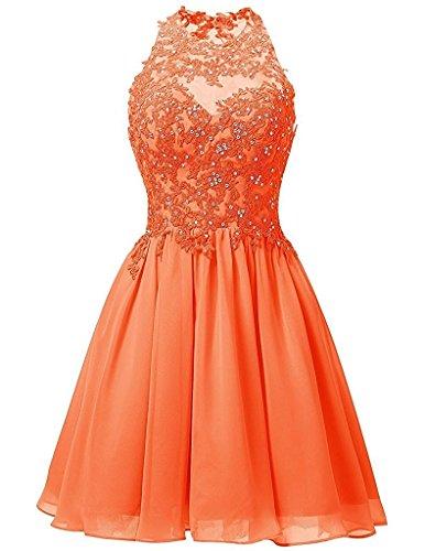 mujer para trapecio naranja Vestido Topkleider EawqxXYw
