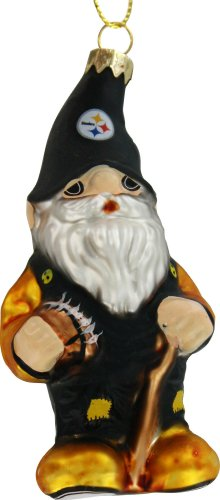 Steelers Pittsburgh Gnome (Forever Collectibles Pittsburgh Steelers Blown Glass Gnome Ornament)