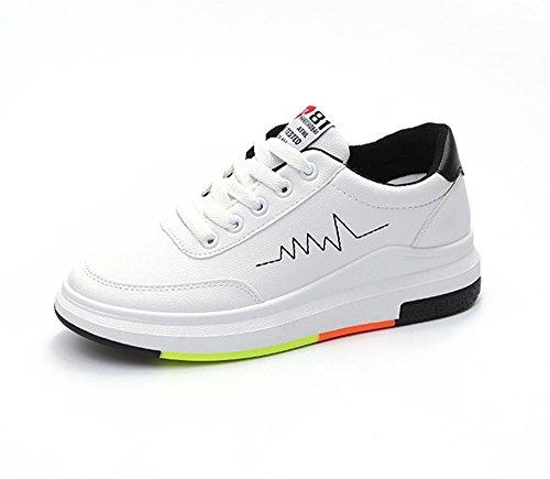 女の子用の小さな白い靴、新しいファッションシューズカジュアルシューズの学生のプラットフォームの靴