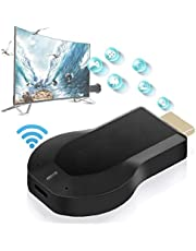 Wireless Screen Device WiFi HDMI Receiver Screen Mirroring Adapter Voor Android/iPhone/iPad/Windows/Miracast/Mac OS Om TV/Projector/Monitor Zwart, Projector