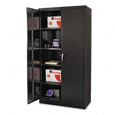 - Alera 85109 36 by 18 by 72-Inch Quick-Assemble High Cabinet with 5 Shelves and 1 Fixed, Black