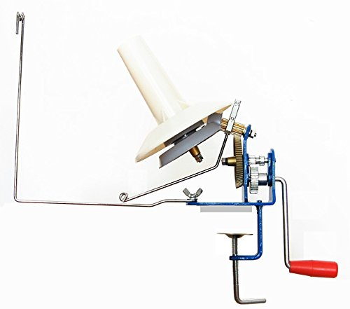 U-nitt Metal Jumbo large yarn/wool/string/fiber ball winder hand operated (high speed) capacity 10 oz MH701 by U-nitt