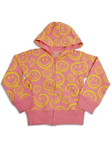 S.W.A.K. - Little Girls' Long Sleeve Smiley Face Jacket, Pink 24834-4