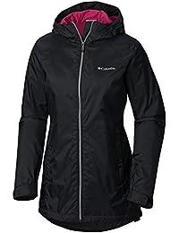 Womens Switchback Lined Long Jacket w/ Waterproof Shell