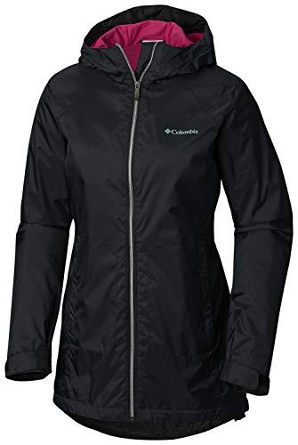 (Columbia Women's Switchback Lined Long Jacket, Black/Haute Pink Medium)