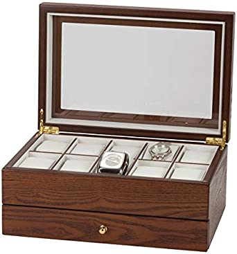 Mele & Co Dylan - Caja expositora para relojes (madera): Amazon.es: Relojes