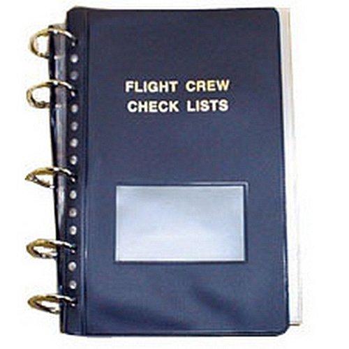 Flight Crew Checklist Binder - 5 Fasteners, 25 Sheet Protectors, ()