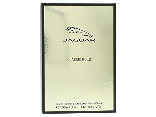 Jaguar Classic Gold Eau de Toilette Spray for Men, 3.4 Ounce