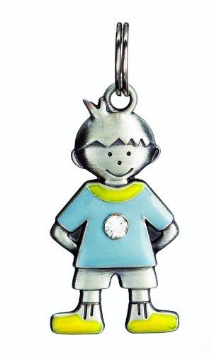 Diamond Kids Boy Charm - Birthstone Kid's Tag - Boy - April