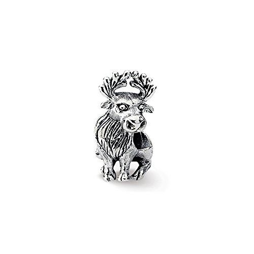 925 Sterling Silver Charm For Bracelet Moose Bead Animal Fine Jewelry Gifts For Women For Her