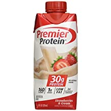 Premier Nutrition High Protein Shake, Strawberry Cream, 18 Count by Premier Nutrition