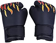 Kids Boxing Gloves, PU Sparring Training Glove Fighting & Kickboxing Gloves with Velcro Wrist Band for Tra
