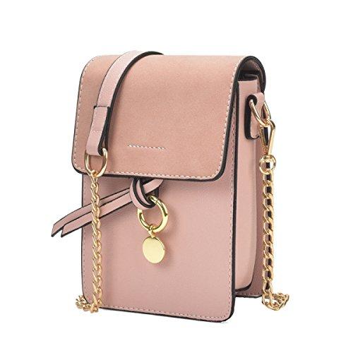 Yy.f Bolsas Mini-teléfono Nuevas Bolsas Bolsos De Moda La Bolsa De Anillo De La Cadena Paquete De Ondas Diagonal Del Hombro Varias Bolsas De Color Pink