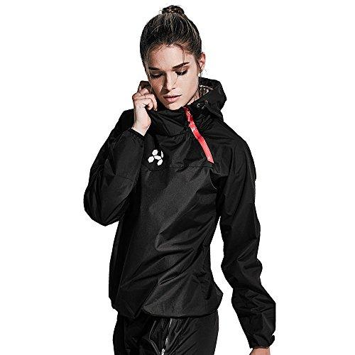 HOTSUIT Sauna Suit Women Weight Loss Boxing Gym Sweat Suits Workout Jacket, Black, M