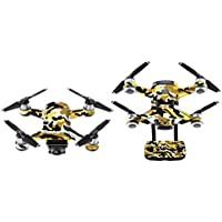 Lucoo Luxury Waterproof Decal Skins Wrap Sticker Body Protector for DJI Spark Mini Drone (H)