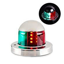 Acelane Boat LED Navigation Lights, Marine Red and Green Sidelights Sailing Signal Lights Bow Lights Stainless Steel 12V IP65 Waterproof for Boating Fishing Yacht, Pontoons, Chandlery Boat, Skeeter
