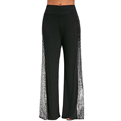 Toimothcn Women's Bell Bottom Flare Pants Tummy Control Workout Yoga Trousers High Waist Pull-On Pants Wear to Work(Black3,S)