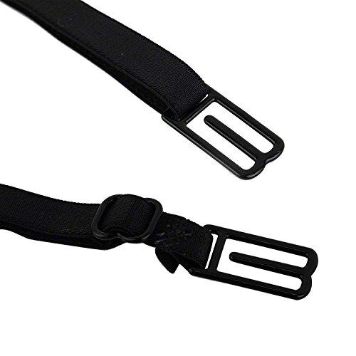regolabile reggiseno Nero cinghia reggiseno XCSSKG da per fissaggio elastico antiscivolo per fibbia reggiseno di polso con Beige con accessori antiscivolo intimo wRICUqA