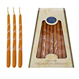 Hanukkah Candles - by Safed Candles, Handcrafted in Israel, 4 Boxes of 45 - Fits Most Menorahs - Premium, Kosher, Dripless, Wax, for Chanukah (Orange)