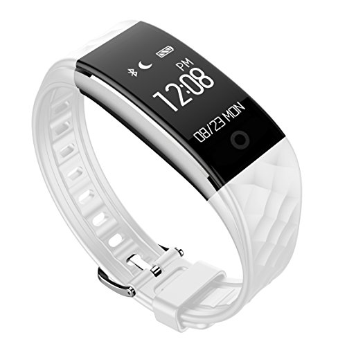 Kids/Teens Fitness Tracker, Heart Rate Monitor with Cycling Mode for iPhone Compatible with Android Samsung Phone, White (Best Fitness Tracker For Biking)