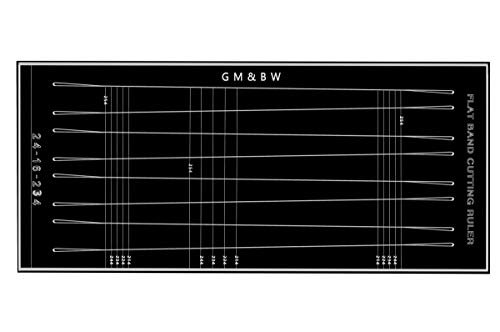 (GM&BW Customized Tapered Flat Bands Cutting Ruler-Ideal Accessory to Make a More Professional Slingshot Catapult for Hunting or Target Shooting-Trapezoids of X-Y-Z mm )