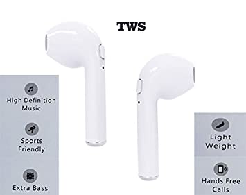 I7 TWS Mini inalámbrico Bluetooth auriculares auriculares en oreja Auriculares Bluetooth para iPhones X 8/