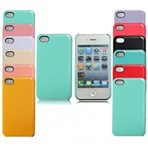 Pastel Plain Cute Candy Color Hard Back Glossy Case For iPhone 4 4S --- Color:Taro Purple