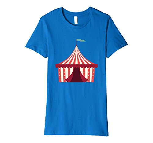 Womens Open Circus Tent Emoji Shirt Carnival Is Open Clown Shirts Large Royal (Female Carnie Costume)