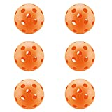 A&L Pickleball Balls, New Concept True Flight Design 40 Hole Outdoor Pickleball Balls Set of 4, for Outdoor or Indoor(4 Pack) (indoor-26holes-orange)