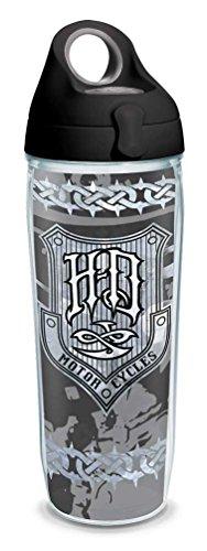 Harley-Davidson HDMC Iron Plate Water Bottle w/Black Lid, 24 oz. 1274558