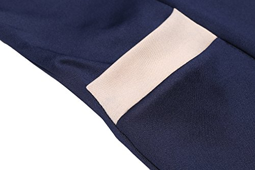 Acevog Damen Bleistiftkleid Businesskleid Etuikleid Shirtkleid Elegant Rundhals Basic Knielang Kleid mit Taschen Tunika S-XXL