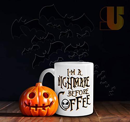 Nightmare Before Coffee,Halloween Mug,Funny Mug,Coffee Mug,Holiday Mug,Christmas,Jack Skellington,Tim -
