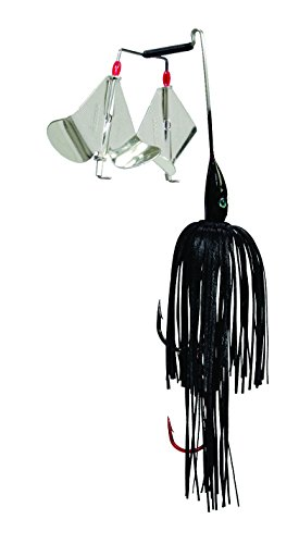 Strike King Premier Plus Buzzbait - The Double Take (Black, 0.375-Ounce)