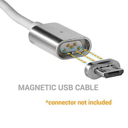 SOJITEK Genuine Magnetic Charging / Data Sync 3.3ft Cable (Cable ONLY) for Micro USB / Android Phone