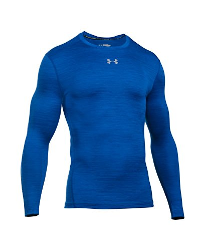 Under Armour Men's ColdGear Armour Twist Compression Crew, Royal/Steel, Small by Under Armour (Image #3)