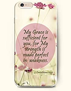 iPhone Case,OOFIT iPhone 6 (4.7) Hard Case **NEW** Case with the Design of My grace is sufficient for you, for my strength is made perfect in weakness. 2 Corinthians 12:9 - Case for Apple iPhone iPhone 6 (4.7) (2014) Verizon, AT&T Sprint, T-mobile